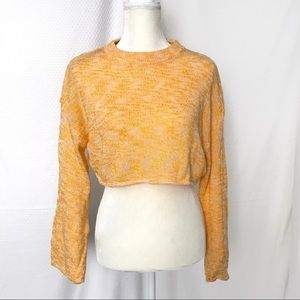 Divided for H&M yellow cropped knit sweater VSCO